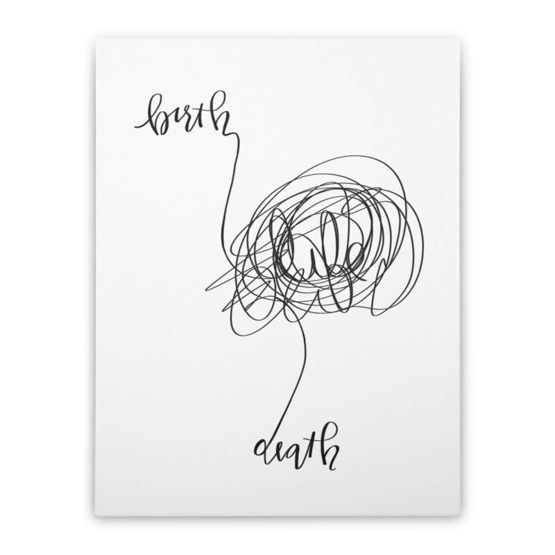 Lifelines Home Stretched Canvas by lopesco's Artist Shop