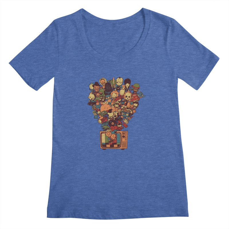 What I Have from the 80's Women's Scoopneck by lopesco's Artist Shop