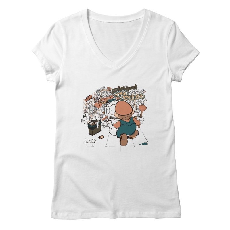 It's a Dirty Work, but... Women's V-Neck by lopesco's Artist Shop