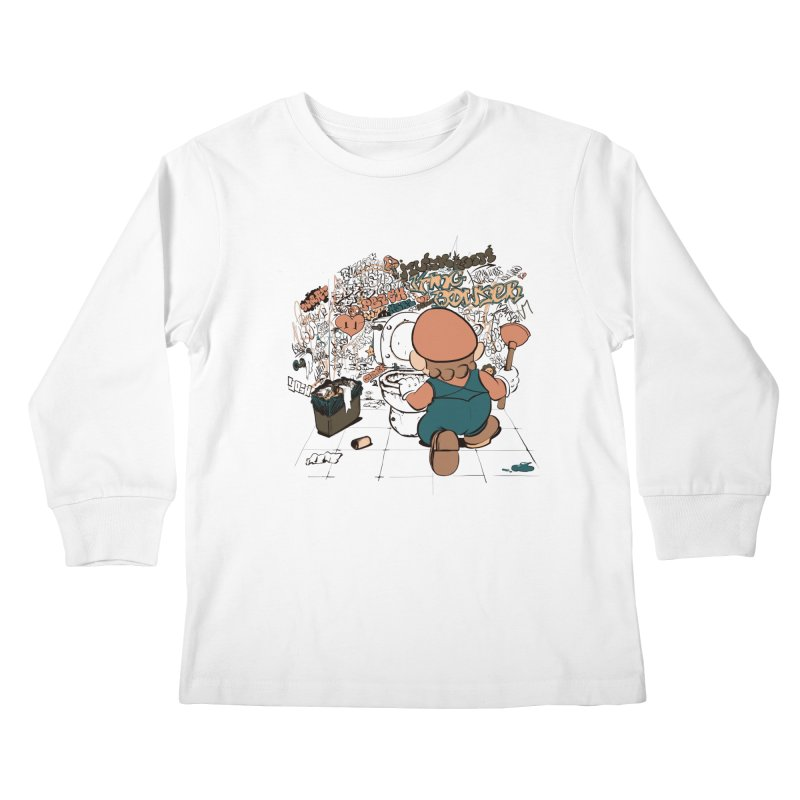 It's a Dirty Work, but... Kids Longsleeve T-Shirt by lopesco's Artist Shop