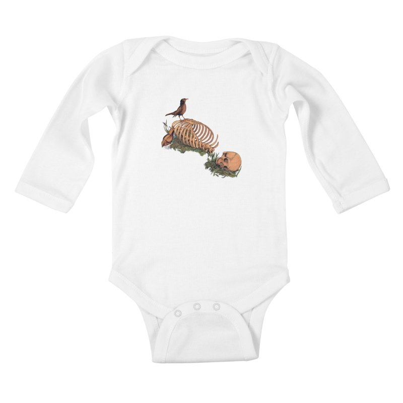 Still Life Speaking Kids Baby Longsleeve Bodysuit by lopesco's Artist Shop