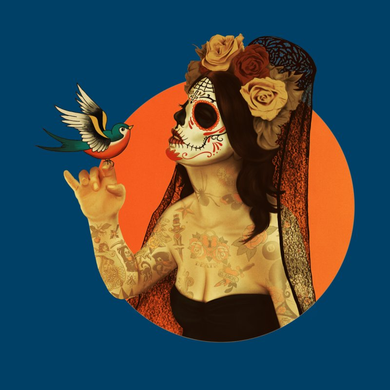 Calavera Princess   by lopesco's Artist Shop