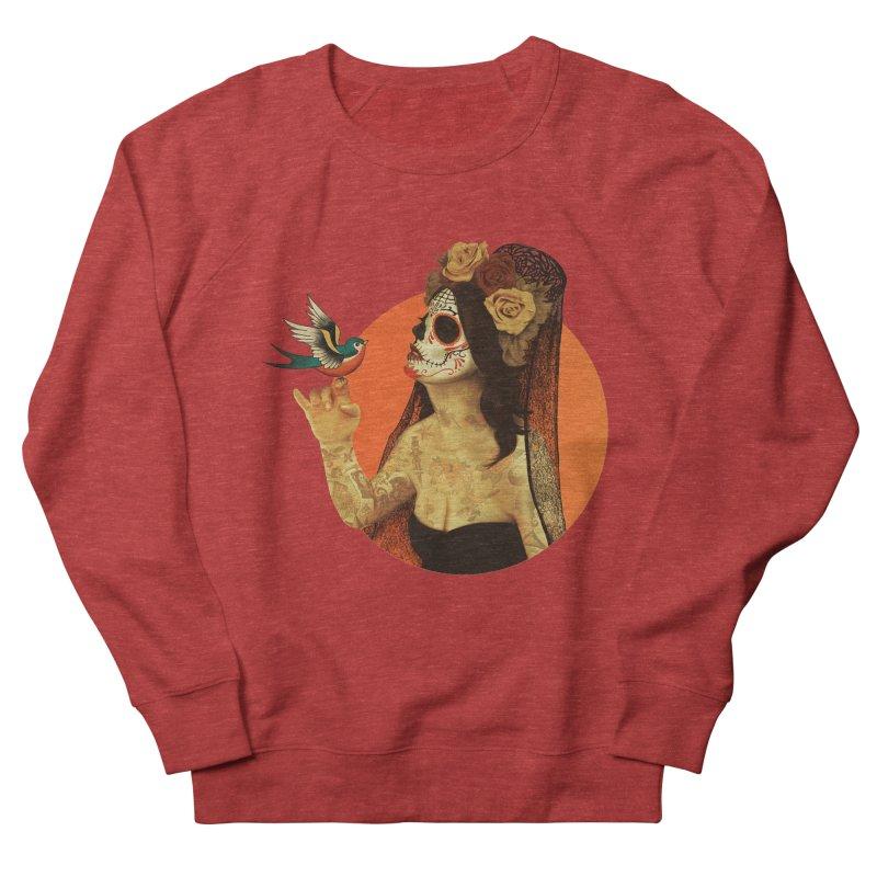 Calavera Princess Men's Sweatshirt by lopesco's Artist Shop