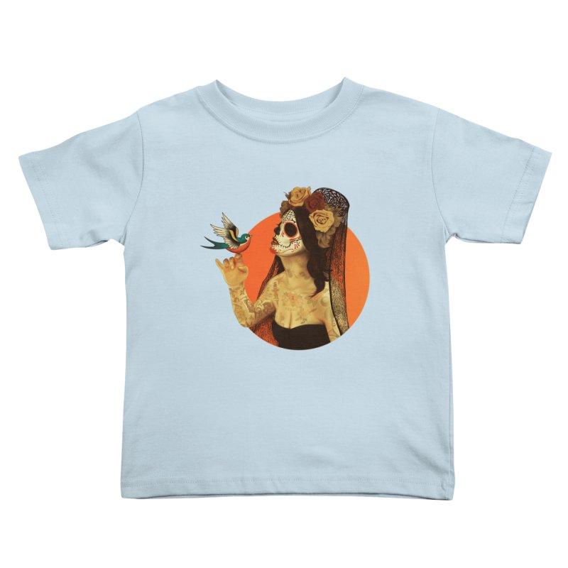 Calavera Princess Kids Toddler T-Shirt by lopesco's Artist Shop