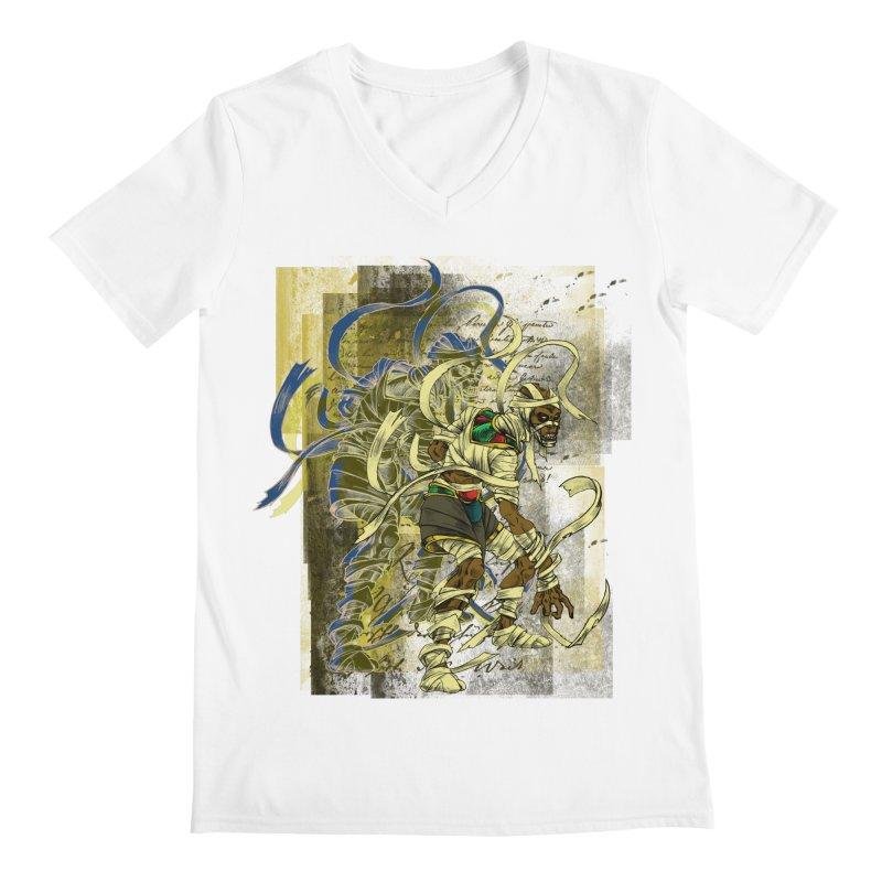 Mummy Stone Craft Men's V-Neck by lorenzobonilla's Artist Shop
