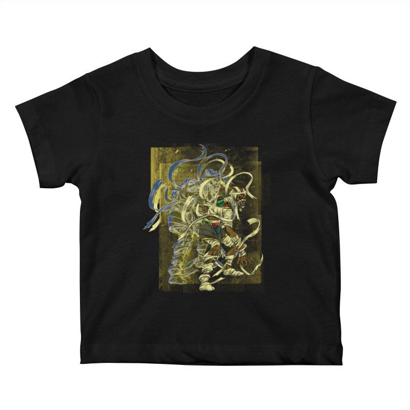 Mummy Stone Craft Kids Baby T-Shirt by lorenzobonilla's Artist Shop