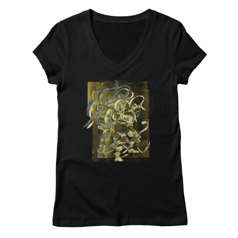 Mummy Stone Craft Women's V-Neck by lorenzobonilla's Artist Shop