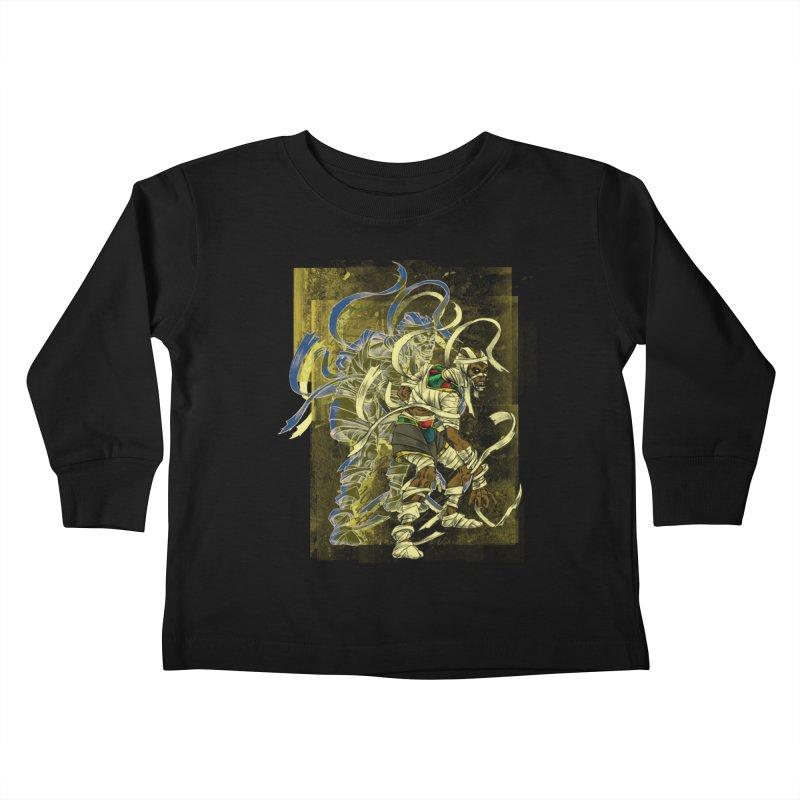 Mummy Stone Craft Kids Toddler Longsleeve T-Shirt by lorenzobonilla's Artist Shop