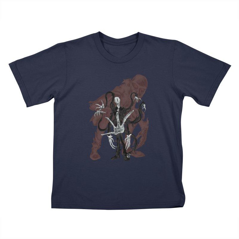 Meet Slender Man Kids T-Shirt by lorenzobonilla's Artist Shop