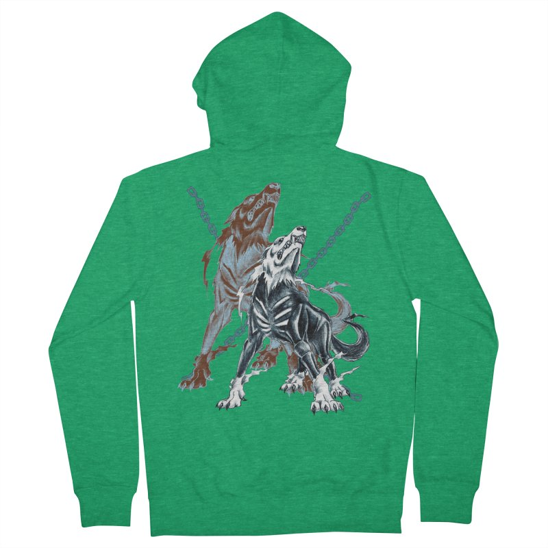 Volcarac-Unchained Predator Women's Zip-Up Hoody by lorenzobonilla's Artist Shop