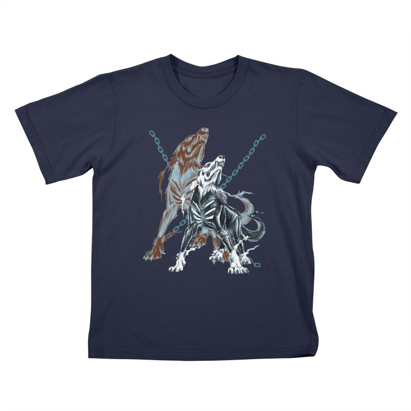 Volcarac-Unchained Predator Kids T-Shirt by lorenzobonilla's Artist Shop