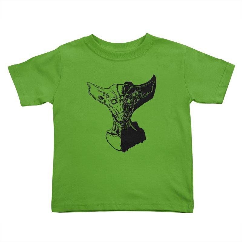 Alien Profile Kids Toddler T-Shirt by lorenzobonilla's Artist Shop
