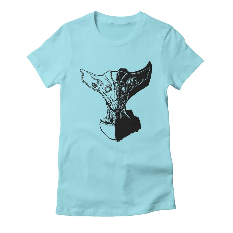 Alien Profile Women's T-Shirt by lorenzobonilla's Artist Shop