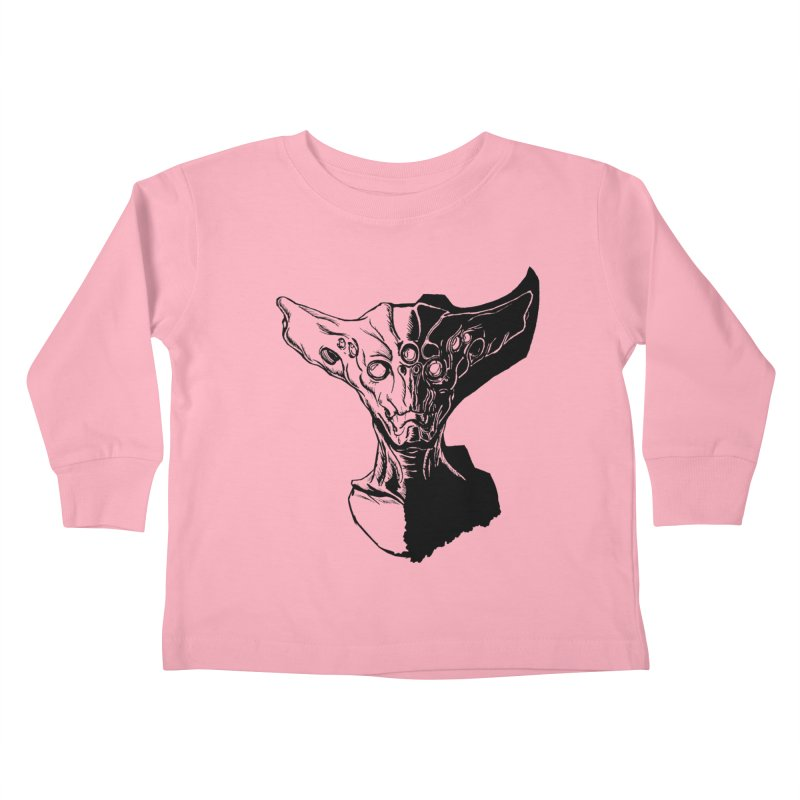 Alien Profile Kids Toddler Longsleeve T-Shirt by lorenzobonilla's Artist Shop