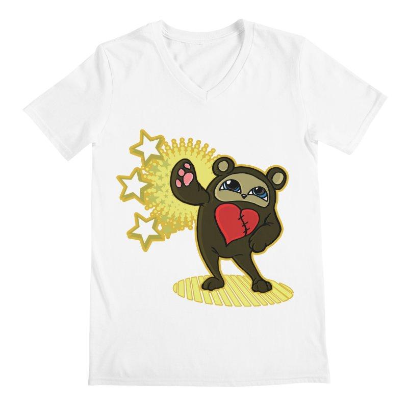 Stitch Bear Men's V-Neck by lorenzobonilla's Artist Shop