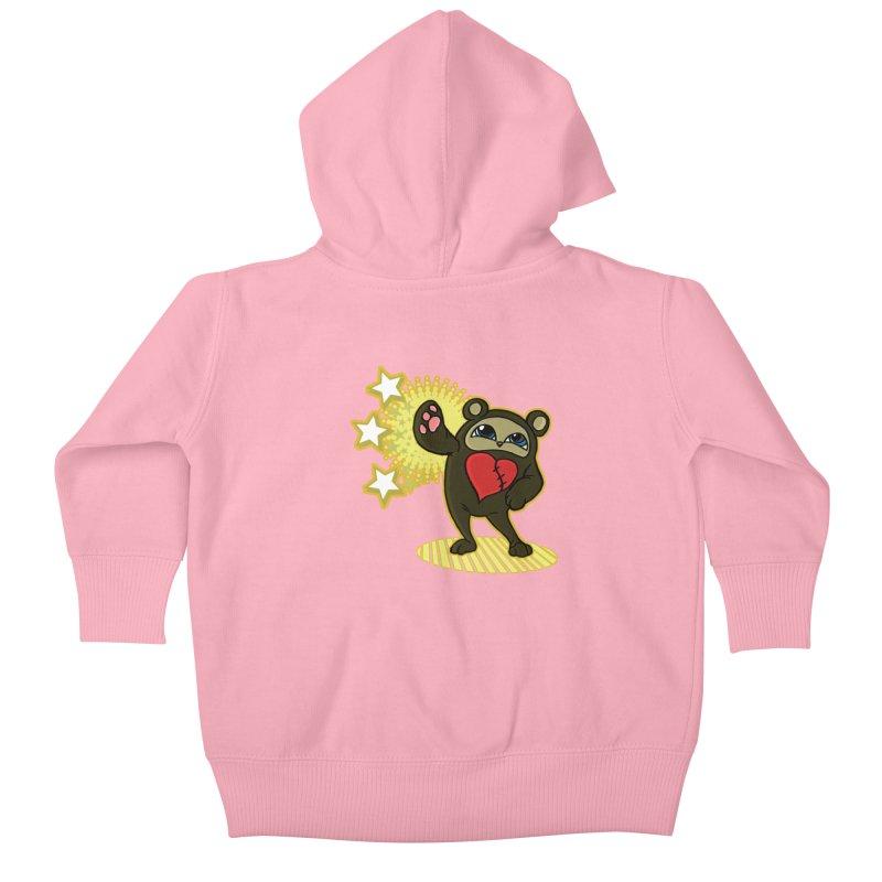Stitch Bear Kids Baby Zip-Up Hoody by lorenzobonilla's Artist Shop
