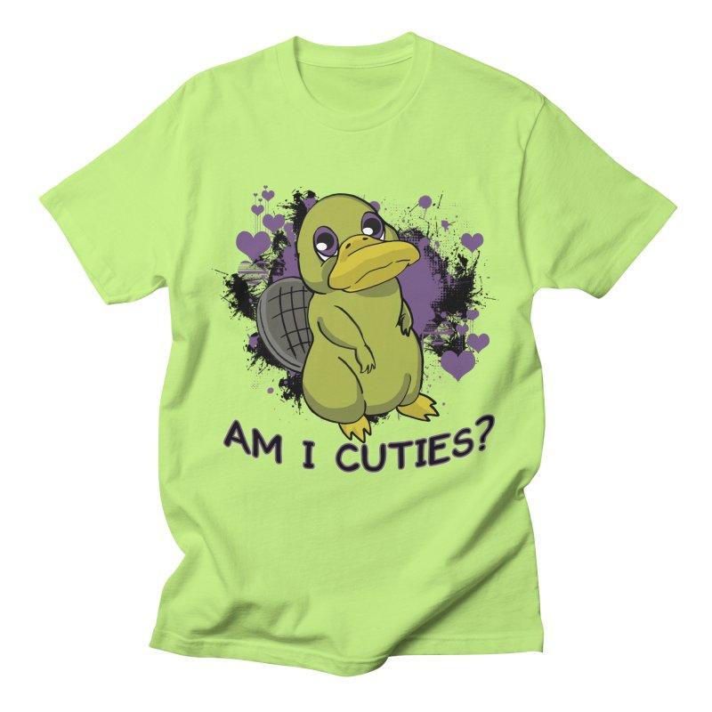 Am I Cute- Purple Eyes Platypus Men's T-Shirt by lorenzobonilla's Artist Shop