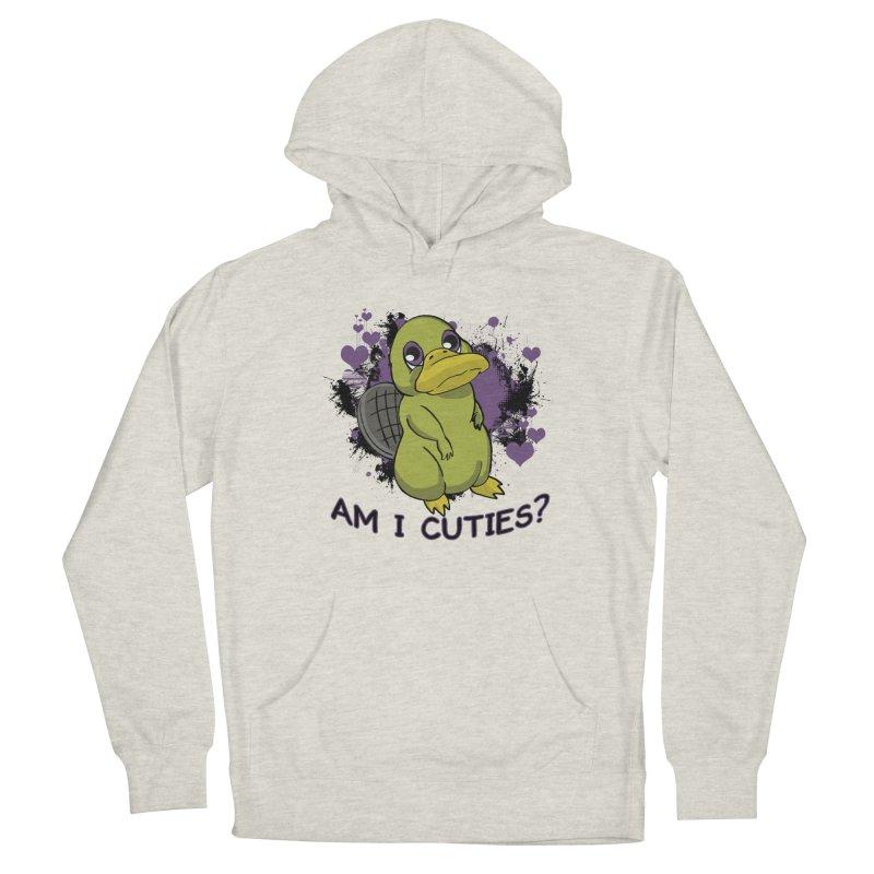 Am I Cute- Purple Eyes Platypus Women's Pullover Hoody by lorenzobonilla's Artist Shop