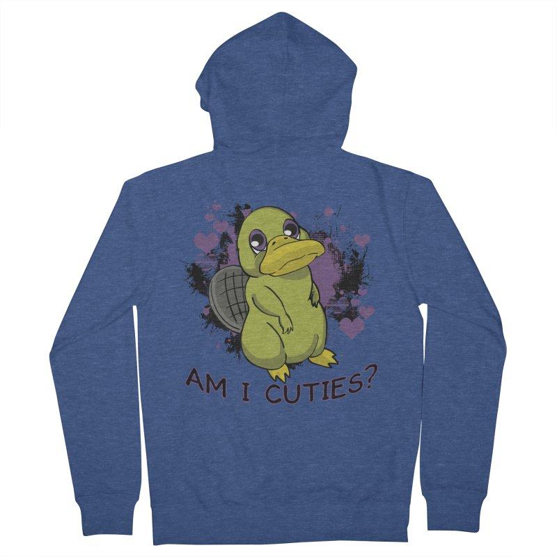 Am I Cute- Purple Eyes Platypus Women's Zip-Up Hoody by lorenzobonilla's Artist Shop