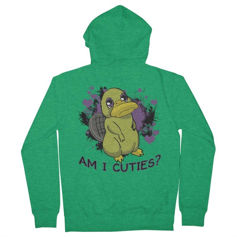 Am I Cute- Purple Eyes Platypus Men's Zip-Up Hoody by lorenzobonilla's Artist Shop