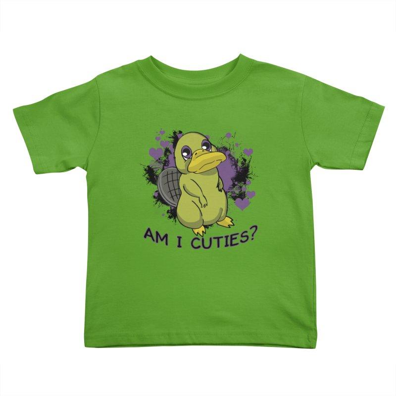 Am I Cute- Purple Eyes Platypus Kids Toddler T-Shirt by lorenzobonilla's Artist Shop