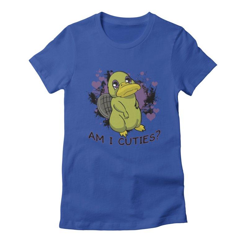 Am I Cute- Purple Eyes Platypus Women's T-Shirt by lorenzobonilla's Artist Shop