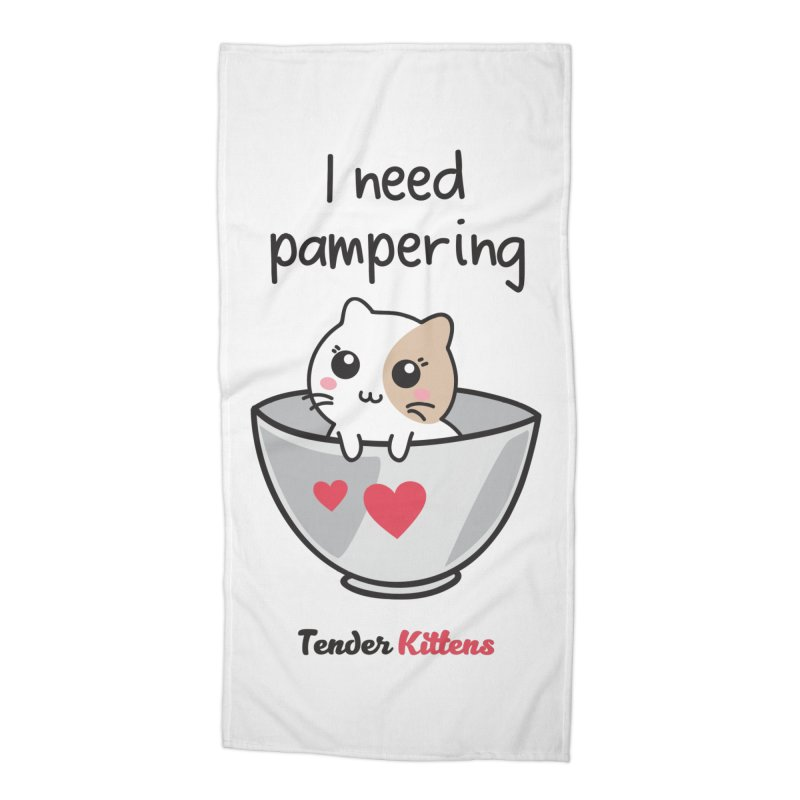 I need pampering in Beach Towel by Loriel Design Shop
