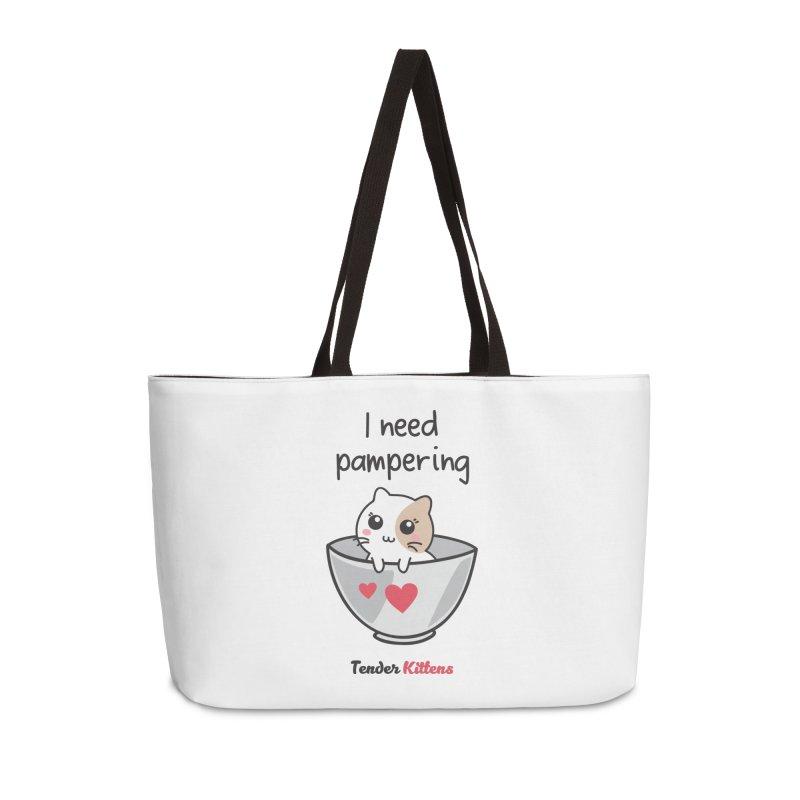 I need pampering in Weekender Bag by Loriel Design Shop