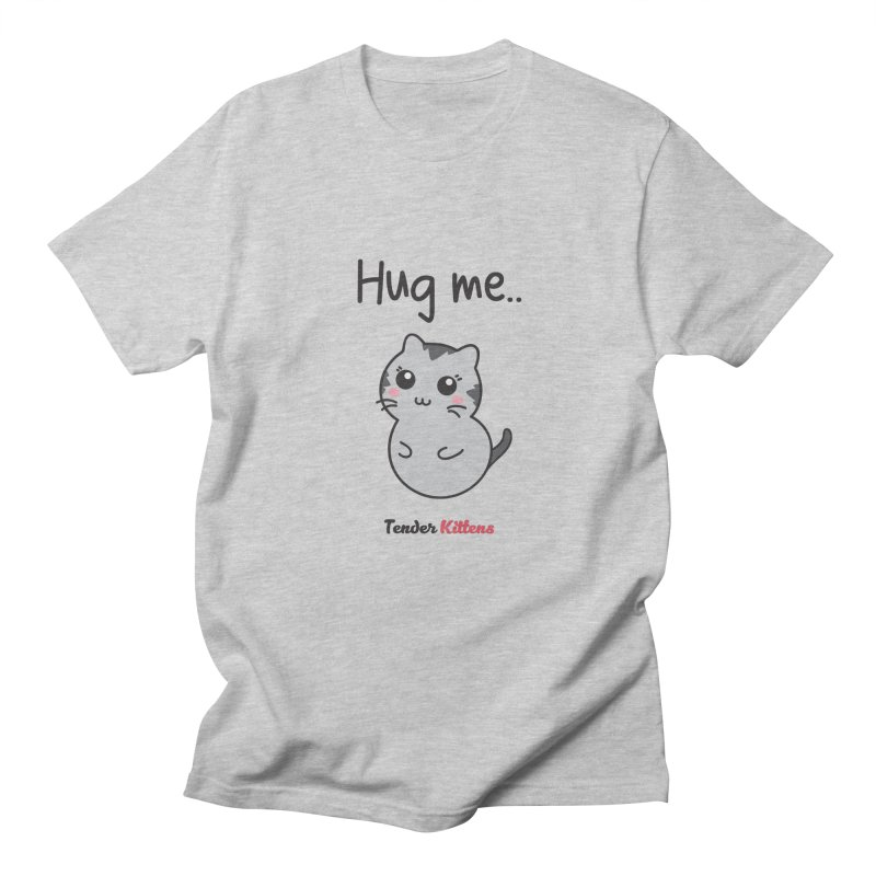 Hug me.. in Men's Regular T-Shirt Heather Grey by Loriel Design Shop