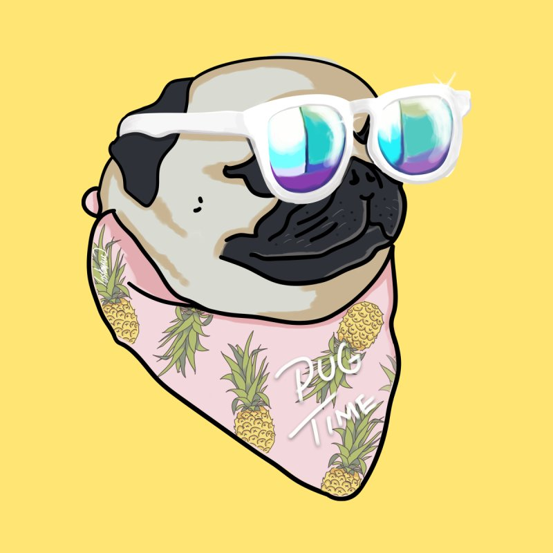Pug Summer Time Men's T-shirt by lostanaw's Artist Shop