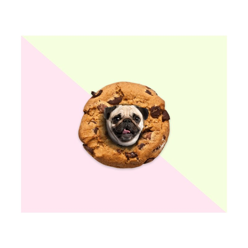 Pug Chocolate Chips Cookie by lostanaw's Artist Shop