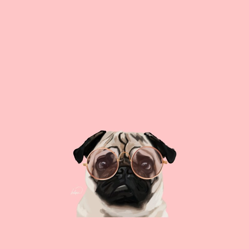 Intellectual Pug by lostanaw's Artist Shop