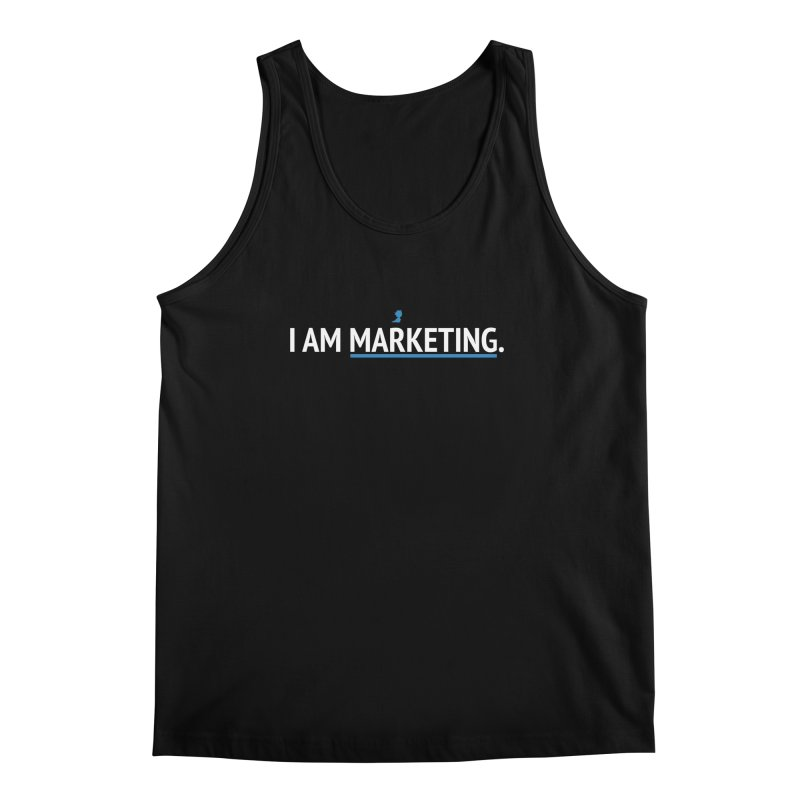 I AM MARKETING. Men's Regular Tank by lostimagination's Artist Shop