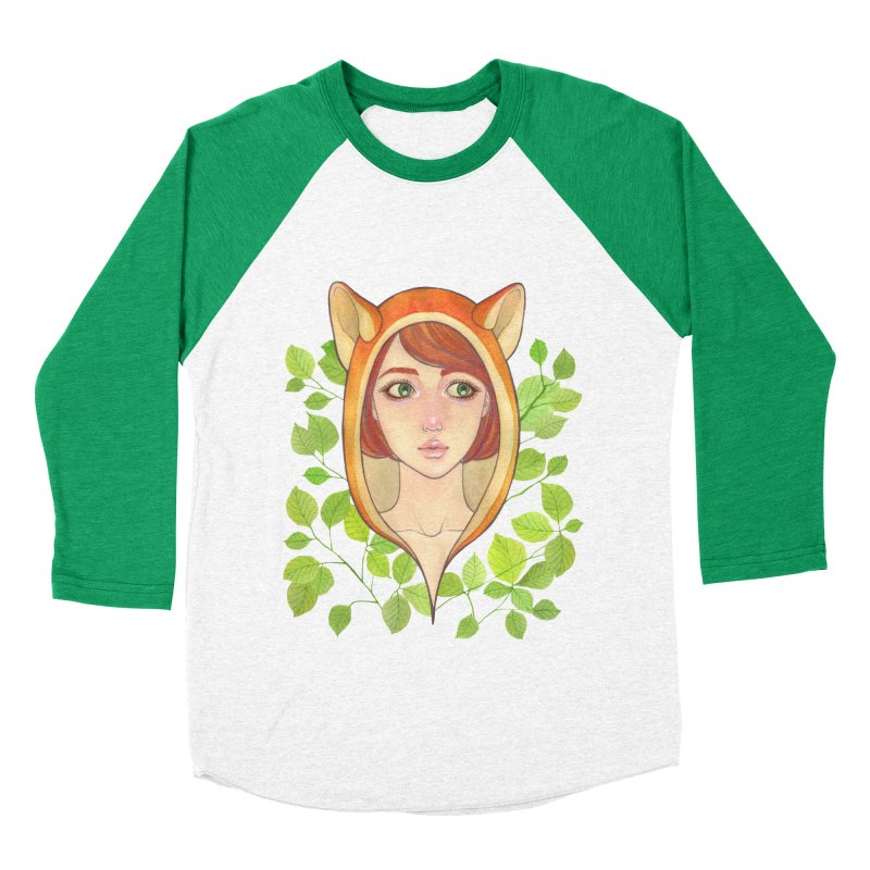Foxy Girl Women's Baseball Triblend T-Shirt by Lost in Space
