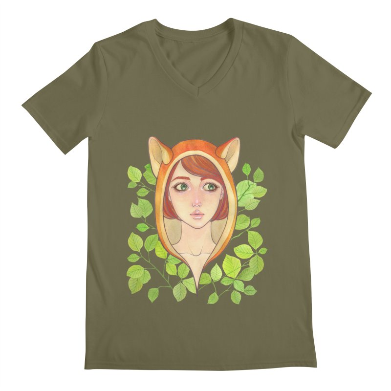 Foxy Girl Men's V-Neck by Lost in Space