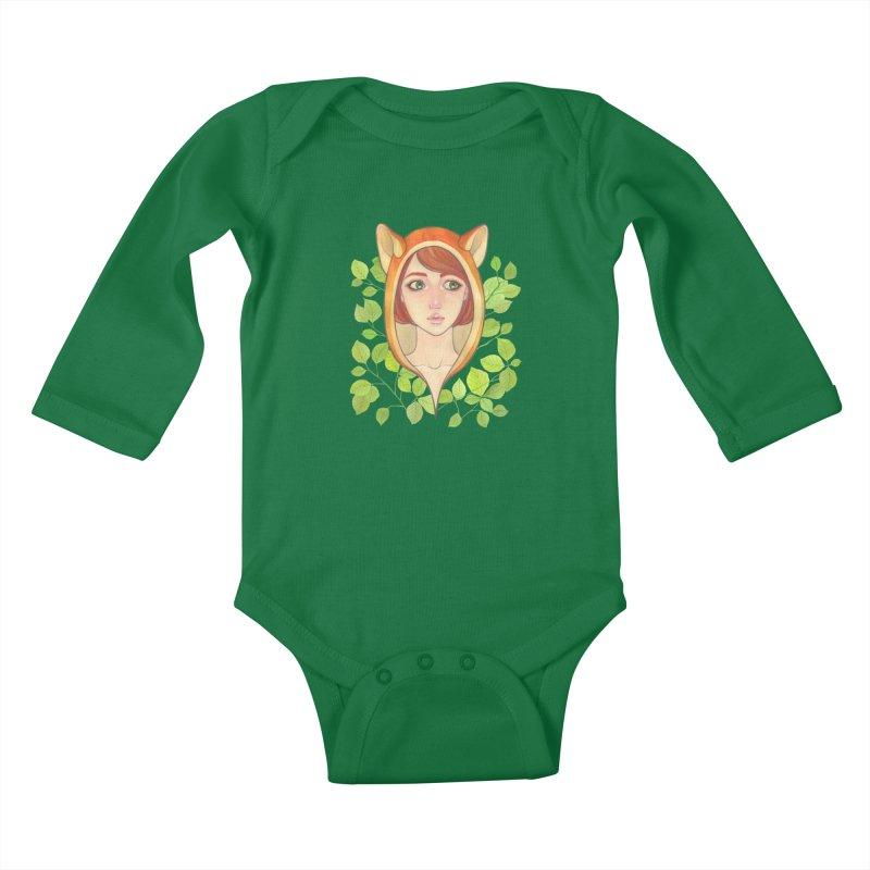 Foxy Girl Kids Baby Longsleeve Bodysuit by Lost in Space