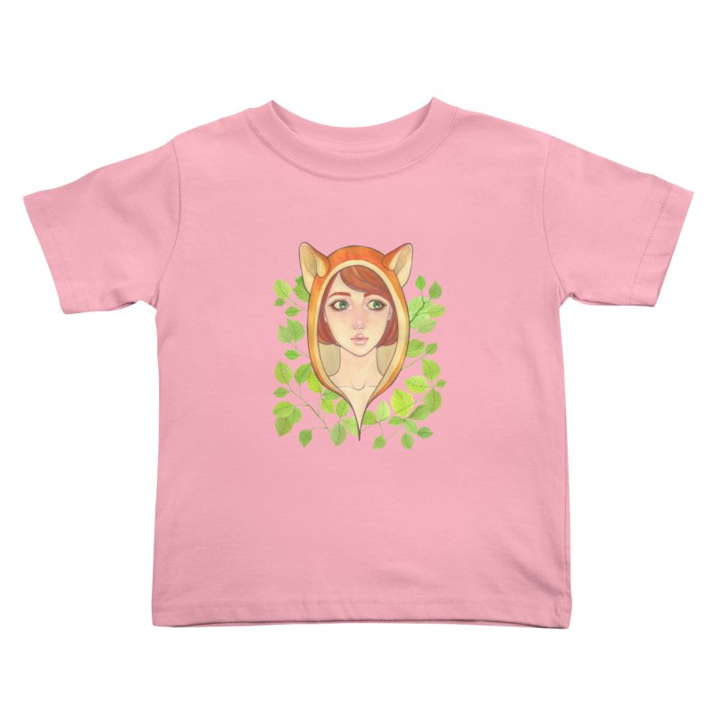 Foxy Girl Kids Toddler T-Shirt by Lost in Space