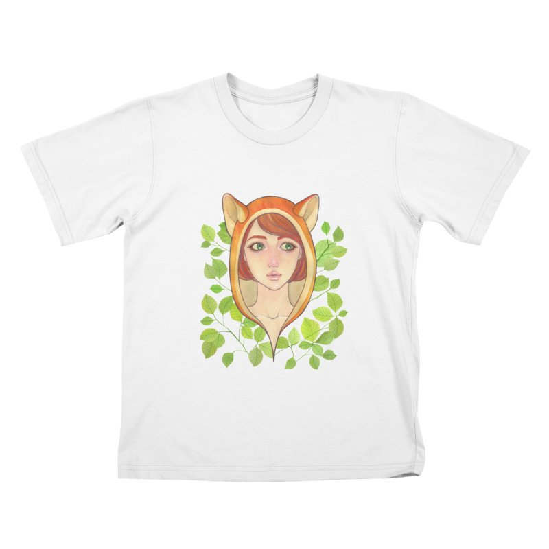 Foxy Girl Kids T-shirt by Lost in Space