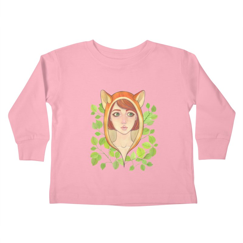 Foxy Girl Kids Toddler Longsleeve T-Shirt by Lost in Space