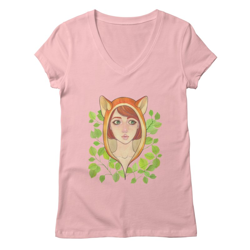 Foxy Girl Women's V-Neck by Lost in Space
