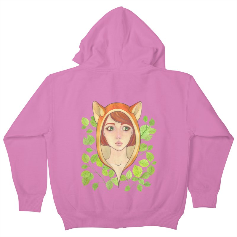 Foxy Girl Kids Zip-Up Hoody by Lost in Space