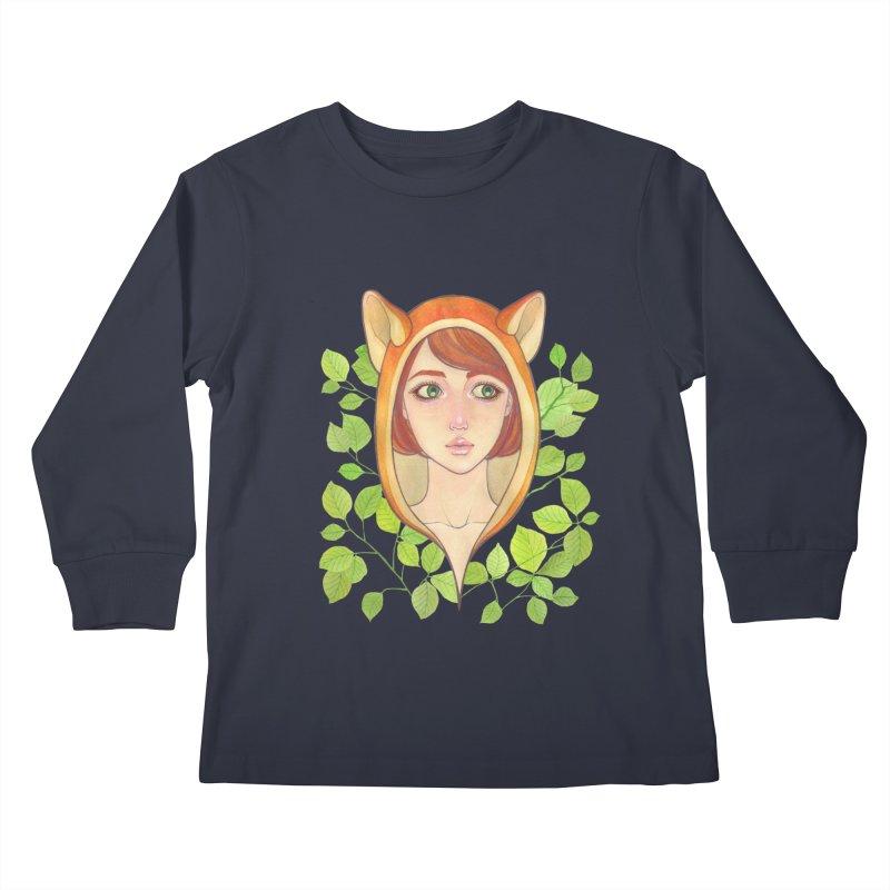 Foxy Girl Kids Longsleeve T-Shirt by Lost in Space