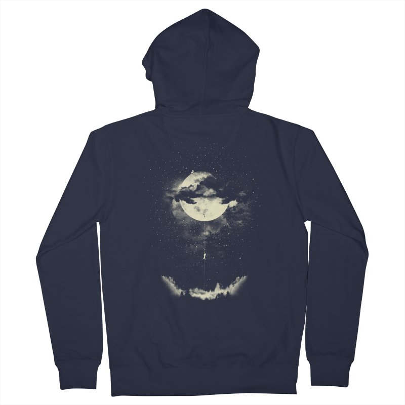 MOON CLIMBING Men's Zip-Up Hoody by lostomatos's Artist Shop