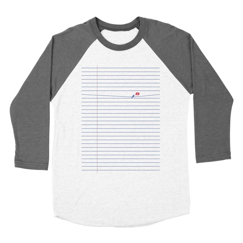 BIRD NOTE Men's Baseball Triblend T-Shirt by lostomatos's Artist Shop