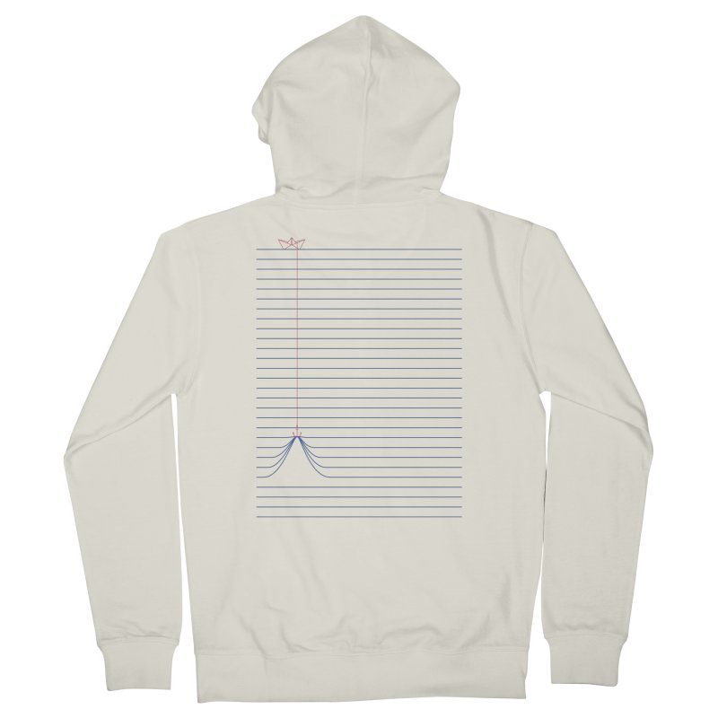NOTE BOAT Women's Zip-Up Hoody by lostomatos's Artist Shop