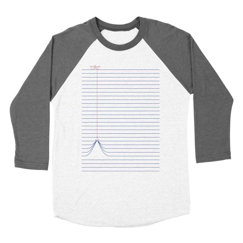 NOTE BOAT Women's Baseball Triblend T-Shirt by lostomatos's Artist Shop