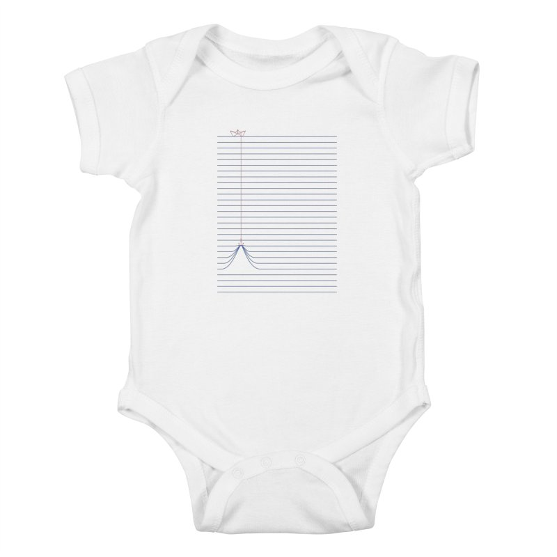 NOTE BOAT Kids Baby Bodysuit by lostomatos's Artist Shop