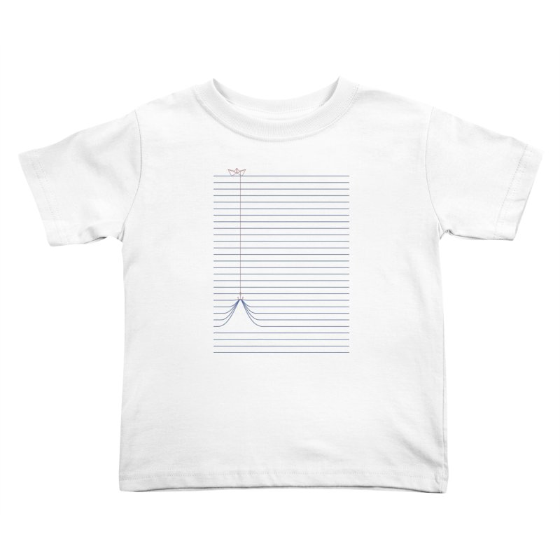 NOTE BOAT Kids Toddler T-Shirt by lostomatos's Artist Shop