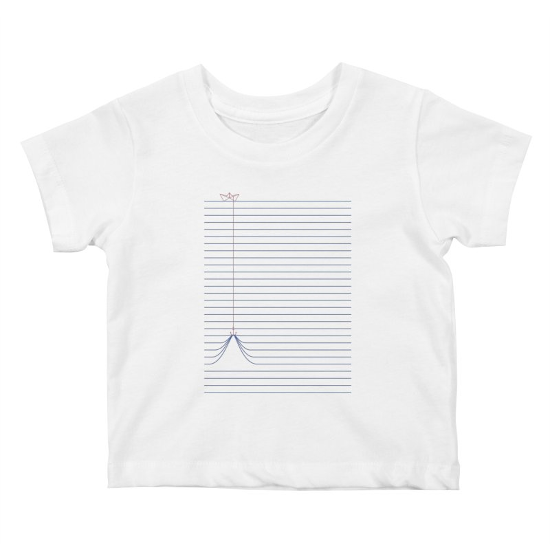 NOTE BOAT Kids Baby T-Shirt by lostomatos's Artist Shop