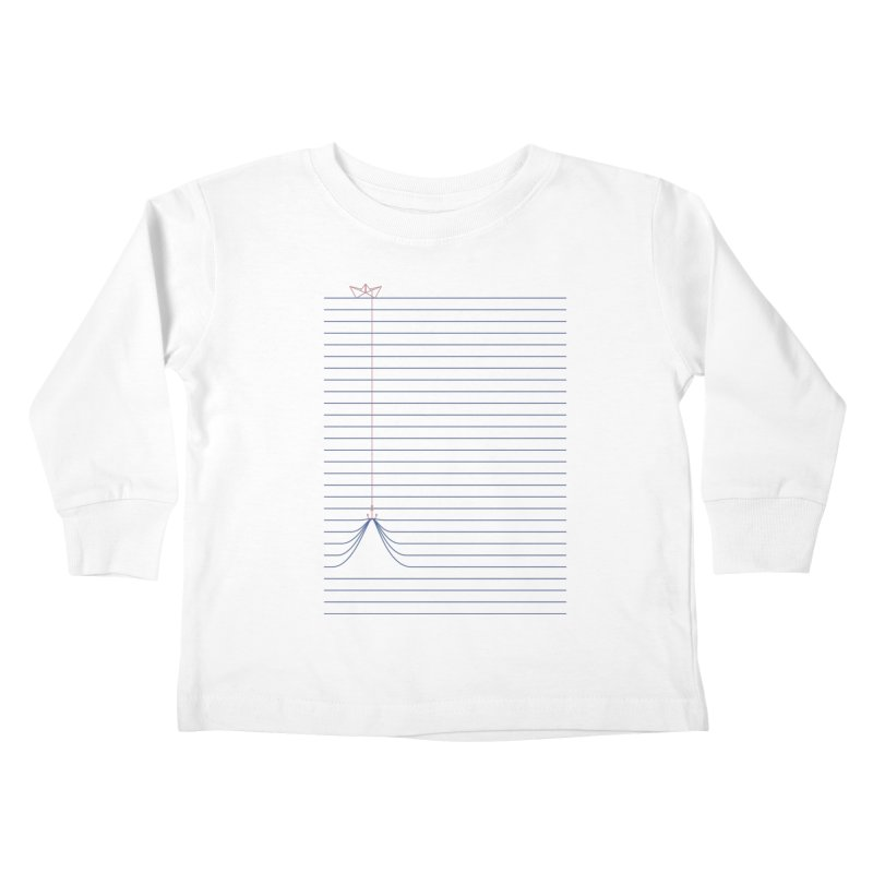 NOTE BOAT Kids Toddler Longsleeve T-Shirt by lostomatos's Artist Shop